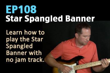 star spangled banner guitar lesson