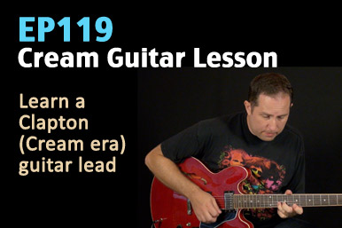 Eric Clapton Cream Guitar Lesson