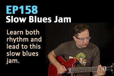slow blues jam guitar lesson