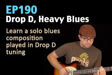 Drop D, Heavy Blues Guitar Lesson (With No Accompaniment