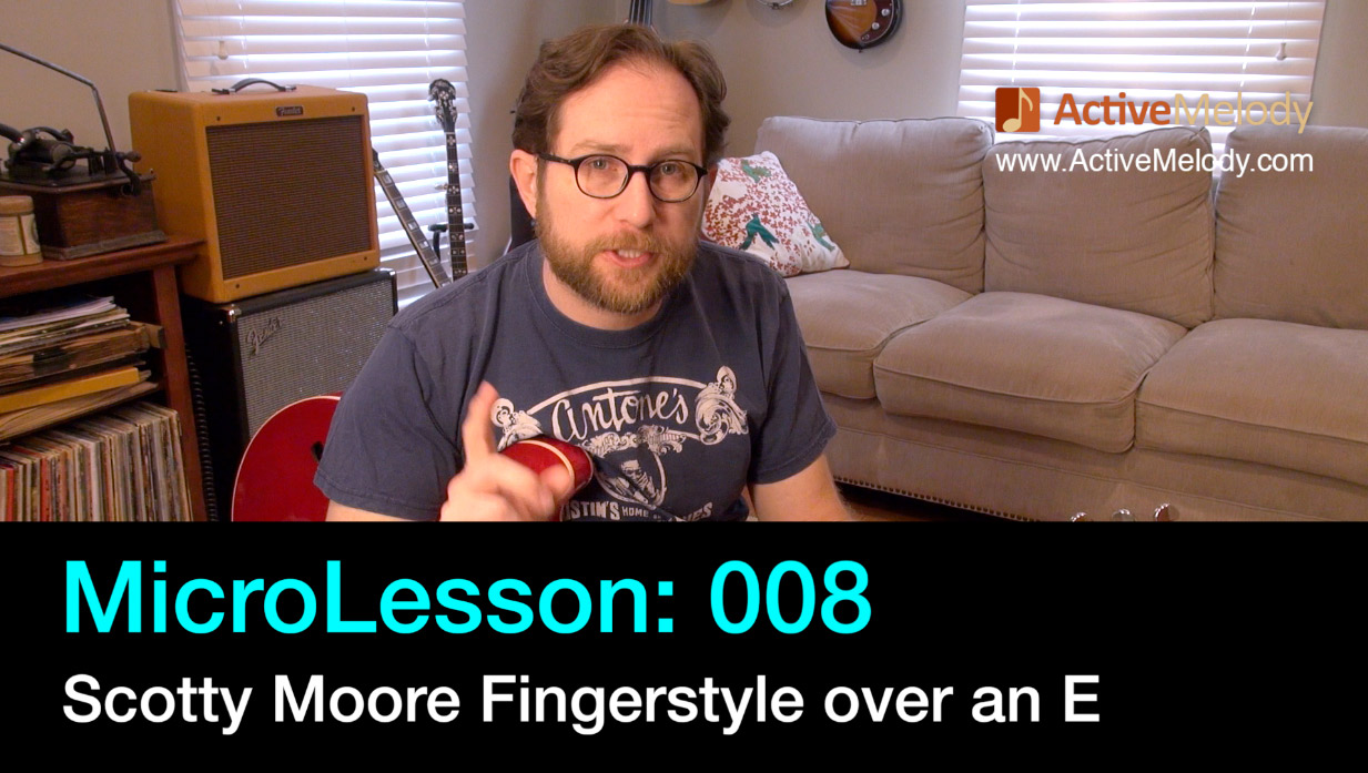 MicroLesson: 008 – Scotty Moore Fingerstyle Rhythm over an E