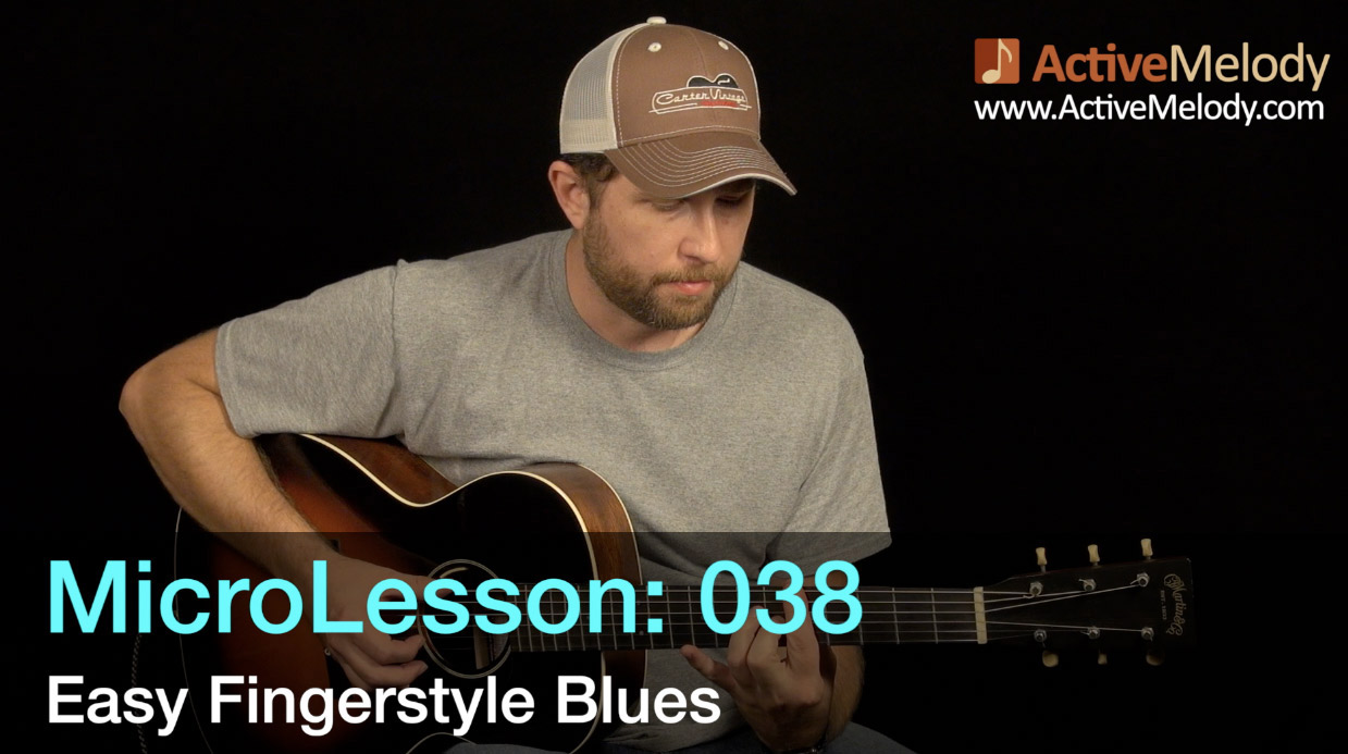 MicroLesson: 038 – Easy Fingerstyle Blues Guitar Lesson – ML038