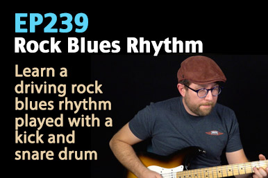 rock blues rhythm guitar lesson