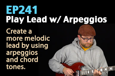 Blues guitar lesson - using arpeggios