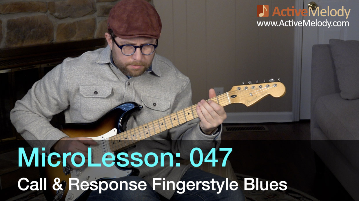 """MicroLesson: 047 – Fingerstyle """"Call & Response"""" Blues Guitar Lesson"""