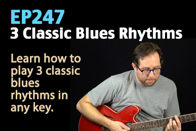 Learn Blues rhythm on guitar