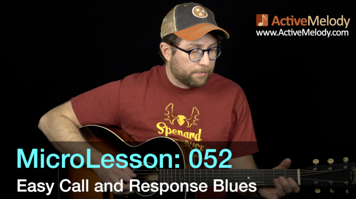 """MicroLesson: 052 – Easy """"Call & Response"""" Style Blues Guitar Lesson"""