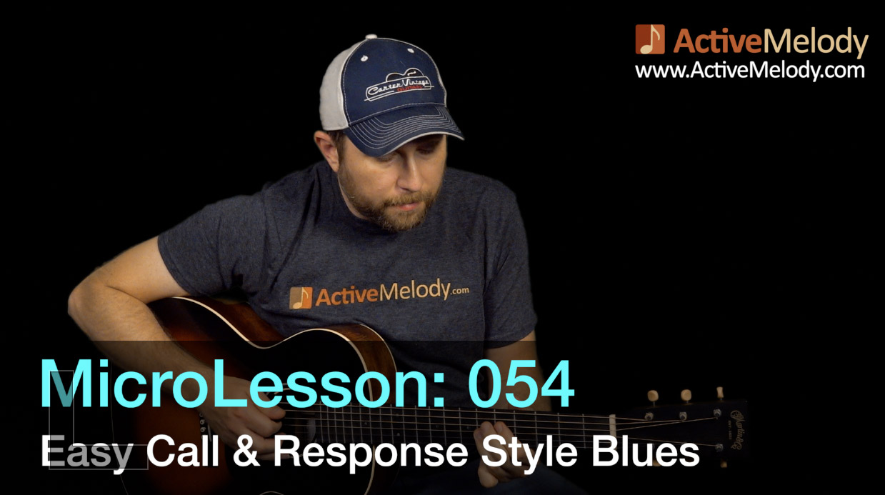MicroLesson: 054 – Easy Call and Response style Blues Guitar Lesson