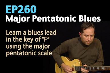 major pentatonic scale blues guitar lesson
