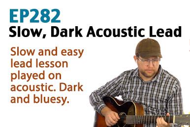 slow, dark blues guitar lesson