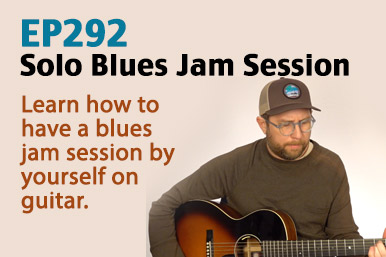 blues jam session by yourself on guitar
