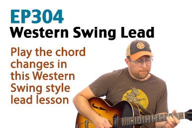 Learn to play lead over the chord changes in a Western Swing style