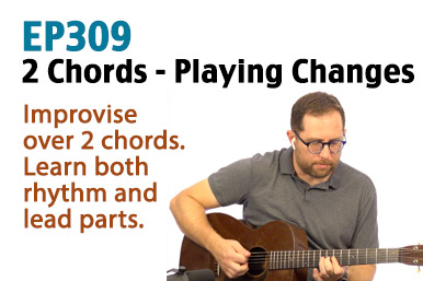 Play the chord changes guitar lesson