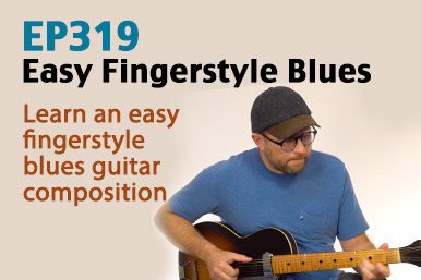 Easy Fingerstyle Blues Composition - EP319
