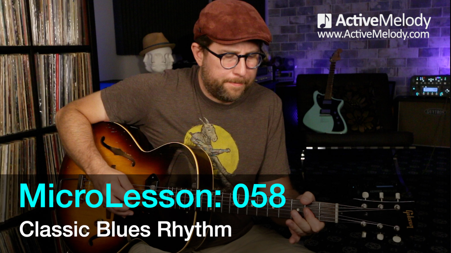 MicroLesson: 058 – Classic Blues Rhythm Guitar Lesson (can be played in any key)