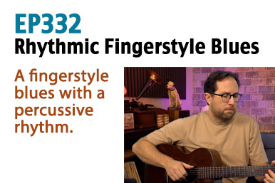 rhythmic fingerstyle blues guitar lesson