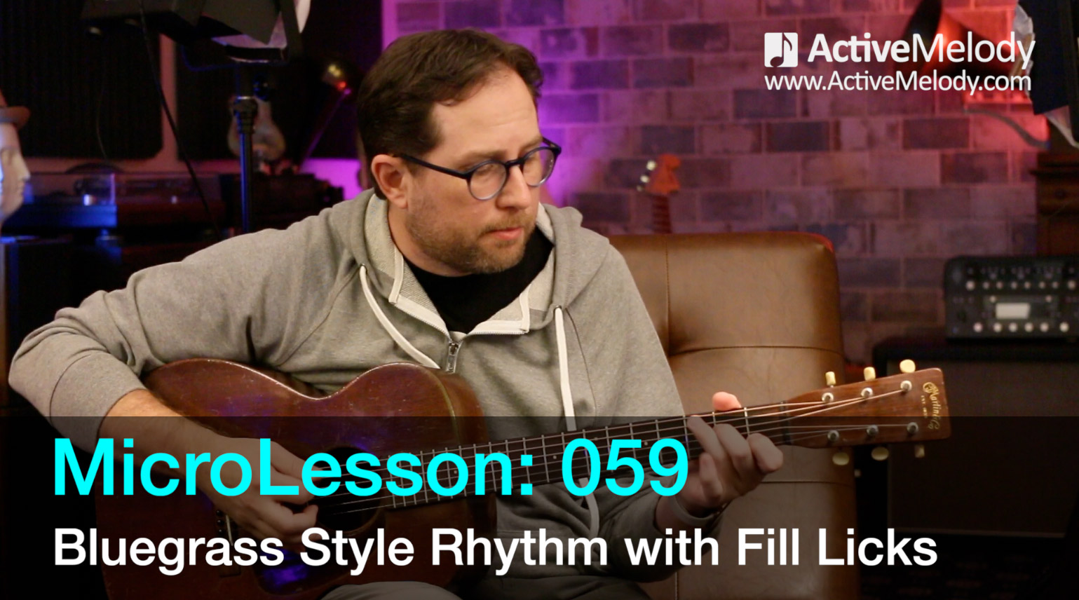 MicroLesson: 059 – Bluegrass Style Rhythm with Fill Licks