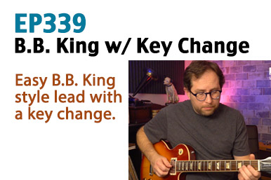 b.b. king style guitar lesson
