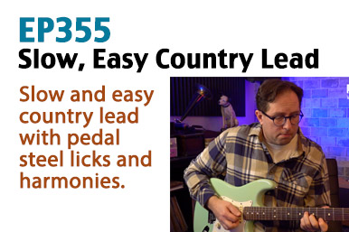 easy country lead guitar lesson