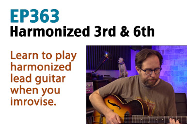 harmonized 3rd and 6th interval guitar lesson