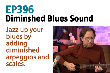 diminished jazzy blues guitar lesson